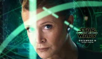 Carrie Fisher as Leia – Star Wars: The Force Awakens