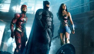 The Flash, Batman and Wonder Woman in Justice League